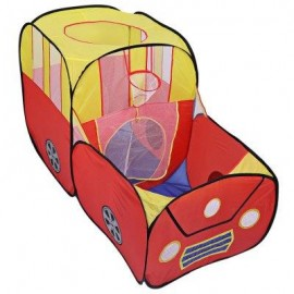 image of PORTABLE FOLDABLE OUTDOOR INDOOR TENT CHILDREN PLAYHOUSE PLAY GAME HOUSE CUBBY HUT (YELLOW AND RED) -