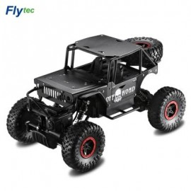 image of FLYTEC 1:18 2.4G ALLOY OFF-ROAD DRIFTING CLIMBING RC CAR (BLACK) EU PLUG