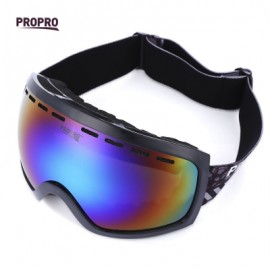 image of PROPRO UV PROTECTION WINDPROOF SKIING GOGGLES MASK MEN WOMEN SNOWBOARDING GLASSES (BLACK) -
