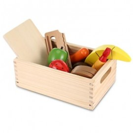 image of 13PCS WOODEN IMITATED CUTTING FRUITS AND VEGETABLES TOY (COLORFUL) -