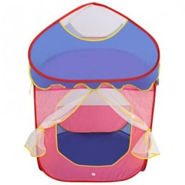 image of KIDS PORTABLE FOLDABLE OUTDOOR INDOOR CARTOON TENT CASTLE PLAYHOUSE PLAY GAME HOUSE (COLORMIX) -