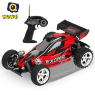 image of 545 4CH 2WD HIGH SPEED 11.5KM/H REMOTE CONTROL CROSSING CAR RTR VEHICLE TOY (RED WITH BLACK) 32.50 x 18.50 x 14.50 cm