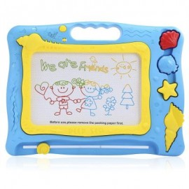 image of KIDS MEDIUM-SIZED MAGIC DRAW SKETCH TABLET BOARD TOY CHRISTMAS PRESENT WITH PEN (COLORMIX) One Size