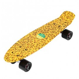 image of 22 INCHES FOUR-WHEEL LONG KICK-TAIL SKATEBOARD MINI CRUISER FISH BANANA BOARD (YELLOW) 56.00 x 15.00 x 14.00 cm