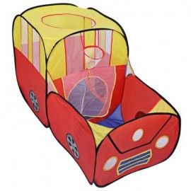 image of PORTABLE FOLDABLE OUTDOOR INDOOR TENT CHILDREN PLAYHOUSE PLAY GAME HOUSE CUBBY HUT (YELLOW AND RED) One Size