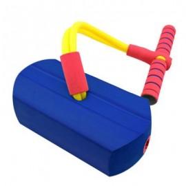 image of CRAZY JUMP FOAM FROG JUMPING BOUNCE STILT CHILDREN KID SPORT (BLUE) Standard