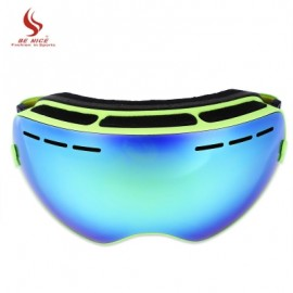 image of BENICE DOUBLE LENS UV400 ANTI-FOG BIG SPHERICAL SKIING GLASSES (GREEN) -