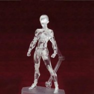 image of 15CM HEIGHT TRANSPARENT COLOR VEGETARIAN DOLL ACTION FIGURE FIGMA TOY (WHITE 35) 0