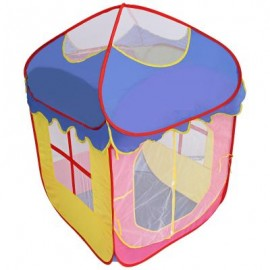 image of KIDS PORTABLE FOLDABLE OUTDOOR INDOOR CARTOON TENT CASTLE PLAYHOUSE PLAY GAME HOUSE (COLORMIX) One Size