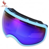 image of BENICE UV PROTECTION ANTI-FOG BIG SKIING GOGGLES MEN WOMEN SNOWBOARDING GLASSES (BLUE) -