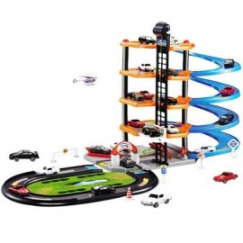 image of 3D CAR PARKING LOT DIY MODEL ASSEMBLY TOY FOR CHILDREN (COLORMIX) -