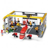 image of SLUBAN BUILDING BLOCKS EDUCATIONAL KIDS TOY AIRCRAFT HANGER OF AVIATION 599PCS (COLORMIX) 0