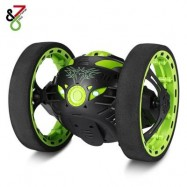image of PEG SJ88 2.4G RC BOUNCE CAR WITH FLEXIBLE WHEELS ROTATION (GREEN) 0