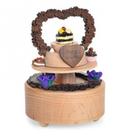 image of ROTATABLE FANCY CAKE WOODEN MUSIC BOX TOY FOR KIDS (COLORMIX) -