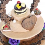 ROTATABLE FANCY CAKE WOODEN MUSIC BOX TOY FOR KIDS (COLORMIX) -
