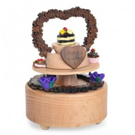 image of ROTATABLE FANCY CAKE WOODEN MUSIC BOX TOY FOR KIDS 9.50 x 9.50 x 13.00 cm