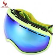 image of BENICE UV PROTECTION ANTI-FOG BIG SKIING GOGGLES MEN WOMEN SNOWBOARDING GLASSES (GREEN) -