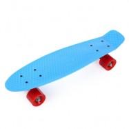 image of 22 INCH FOUR-WHEEL STREET LONG MINI FISH SKATEBOARD (BLUE) RED WHEEL