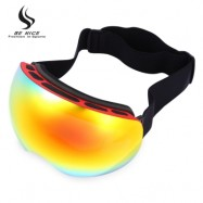 image of BENICE DOUBLE LENS UV PROTECTION ANTI-FOG BIG SPHERICAL SKIING GLASSES SNOW GOGGLES (RED) 4504