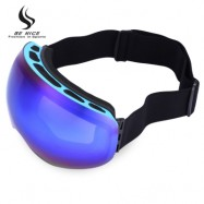 image of  BENICE DOUBLE LENS UV PROTECTION ANTI-FOG BIG SPHERICAL SKIING GLASSES SNOW GOGGLES (BLUE) 4503