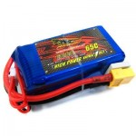 SPARE DINOGY 1300MAH 14.8V 4S 65C LI-PO BATTERY FOR FIXED-WING PLANE / AIRCRAFT / BOAT / VEHICLE (BLUE) -
