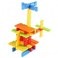 image of 120PCS CHILDREN COLORFUL BUILDING BLOCK BRICKS EDUCATIONAL TOY SET (COLORMIX) -