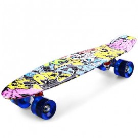 image of CL - 85 22 INCH GRAFFITI HIP-HOP SKULL RETRO SKATEBOARD LONGBOARD MINI CRUISER CL - 85 56.00 x 15.00 x 10.00 cm