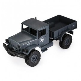 image of WPL B - 1 1:16 MINI OFF-ROAD RC MILITARY TRUCK RTR FOUR-WHEEL DRIVE / METAL SUSPENSION BEAM / BRIGHT LED LIGHT (BLUE GRAY) 0