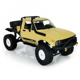 image of WPL C14 1:16 2.4G 2CH 4WD MINI OFF-ROAD RC SEMI-TRUCK WITH METAL CHASSIS / TPR TIRES / 15KM/H TOP SPEED (YELLOW) KIT