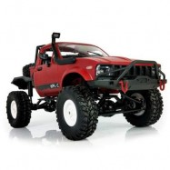 image of WPL C14 1:16 2.4G 2CH 4WD MINI OFF-ROAD RC SEMI-TRUCK WITH METAL CHASSIS / TPR TIRES / 15KM/H TOP SPEED (RED) KIT