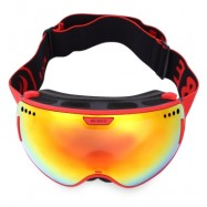 image of BENICE UV PROTECTION DOUBLE ANTI-FOG LENS BIG SPHERICAL SKIING GLASSES SNOW GOGGLES (RED) 3804 - RED LOGO