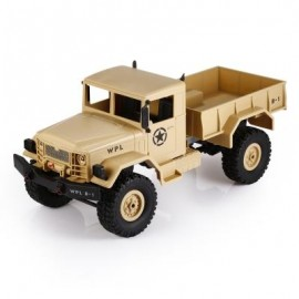 image of WPL B - 1 1:16 MINI OFF-ROAD RC MILITARY TRUCK RTR FOUR-WHEEL DRIVE / METAL SUSPENSION BEAM / BRIGHT LED LIGHT (SAND YELLOW) 0