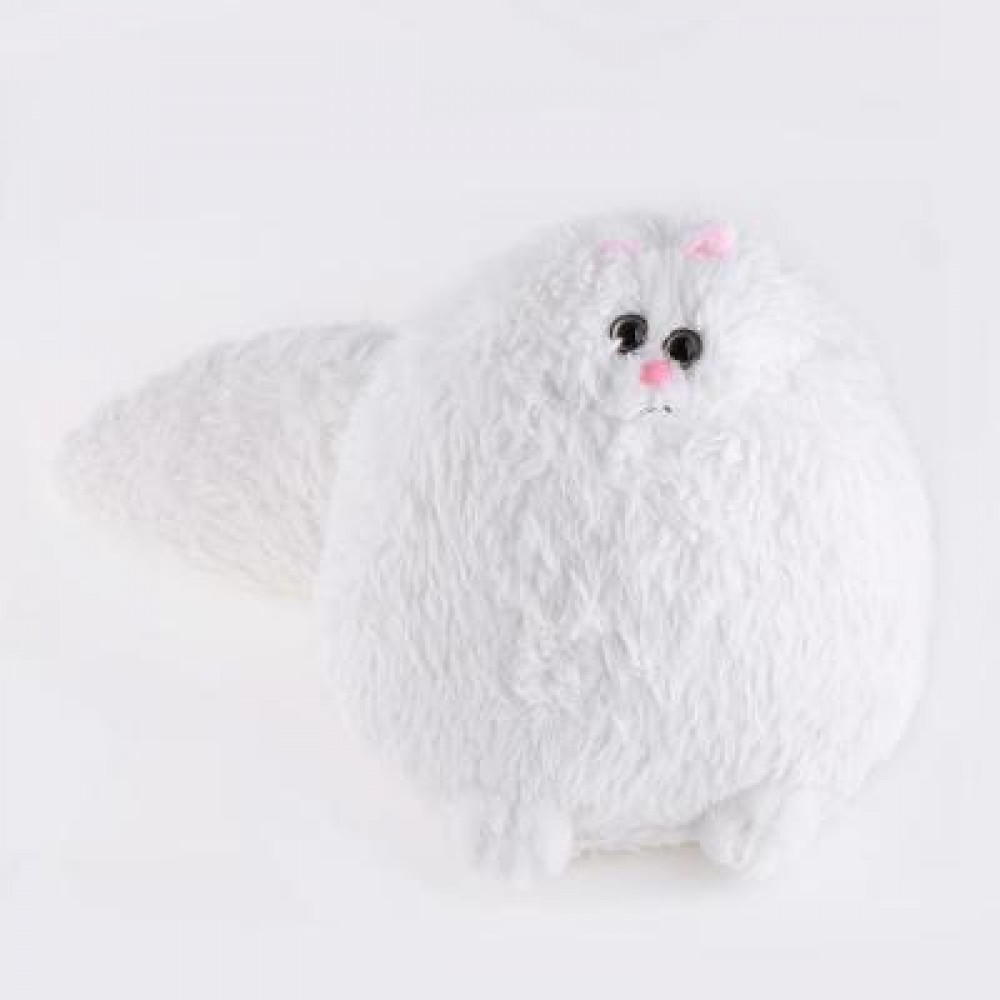 STUFFED CUTE SIMULATION PERSIAN CAT PLUSH DOLL TOY BIRTHDAY CHRISTMAS GIFT FOR BABY 33.00 x 32.00 x 30.00 cm
