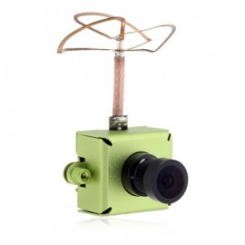 image of JF - 01 40CH 800TVL 25MW 148 DEGREE FOV MINI CAMERA WITH TRANSMITTER ANTENNA FOR FPV (GREEN) -