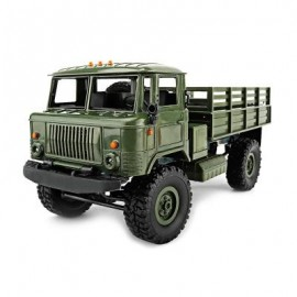 image of WPL B - 24 1:16 2.4G DIY MINI OFF-ROAD RC MILITARY TRUCK FOUR-WHEEL DRIVE / 10KM/H MAXIMUM SPEED (ARMY GREEN) 0