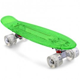 image of CL - 403 22 INCH TRANSPARENT PC LED RETRO SKATEBOARD LONGBOARD MINI CRUISER 56.00 x 15.00 x 10.00 cm