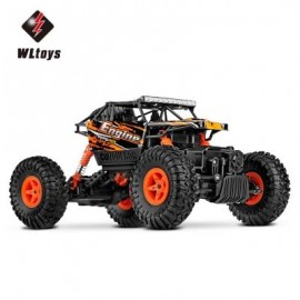 image of WLTOYS 18428 - B 1:18 SCALE 2.4G 4WD RC OFF-ROAD CAR CRAWLER (DARKSALMON) -