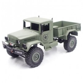 image of HENG LONG 3853A 1:16 MINI OFF-ROAD RC MILITARY TRUCK RTF WITH FOUR-WHEEL DRIVE (ARMY GREEN) 0