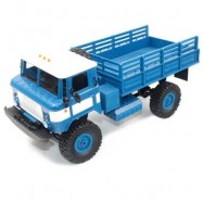image of WPL B - 24 1:16 2.4G MINI OFF-ROAD RC MILITARY TRUCK RTR FOUR-WHEEL DRIVE / 10KM/H MAXIMUM SPEED (BLUE) 0