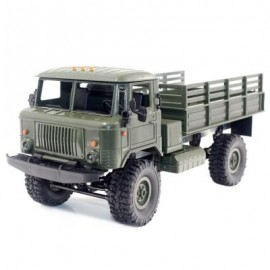 image of WPL B - 24 1:16 2.4G MINI OFF-ROAD RC MILITARY TRUCK RTR FOUR-WHEEL DRIVE / 10KM/H MAXIMUM SPEED (ARMY GREEN) 0