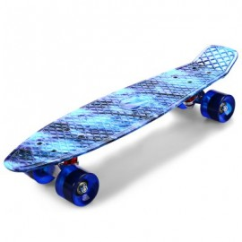 image of CL-94 22 INCH BLUE STARRY SKY PATTERN RETRO SKATEBOARD LONGBOARD MINI CRUISER (COLORMIX) -