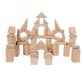 image of MUMAMA WOODEN GRAIN BULK CASTLE BUILDING BLOCKS CHILD TOY (WOOD) -