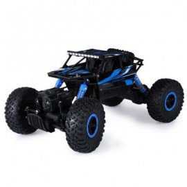 image of 2.4GHZ 1:18 SCALE RC ROCK CRAWLER 4WD OFF-ROAD RACE TRUCK TOY (BLUE, EU PLUG) EU Plug