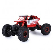 image of 2.4GHZ 1:18 SCALE RC ROCK CRAWLER 4WD OFF-ROAD RACE TRUCK TOY (RED, EU PLUG) EU Plug