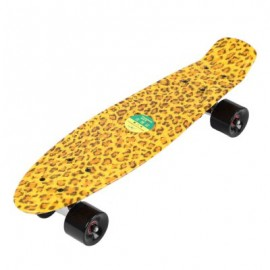 image of 22 INCHES FOUR-WHEEL LONG KICK-TAIL SKATEBOARD MINI CRUISER FISH BANANA BOARD (YELLOW) -
