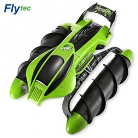 image of FLYTEC 989 - 393 2.4GHZ AMPHIBIOUS STUNT RC TANK CAR (GREEN) US PLUG