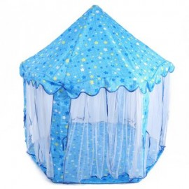 image of KIDS PORTABLE PRINCESS CASTLE PLAY TENT ACTIVITY FAIRY HOUSE INDOOR OUTDOOR PLAYHOUSE (LIGHT BLUE) One Size