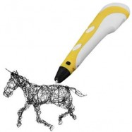 image of INNOVATIVE 3D PRINTER PEN THREE - DIMENSIONAL PAINTING DRAWING FOR GIFT ( 100 - 240V ) (YELLOW) -