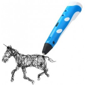 image of INNOVATIVE 3D PRINTER PEN THREE - DIMENSIONAL PAINTING DRAWING FOR GIFT ( 100 - 240V ) (BLUE) -