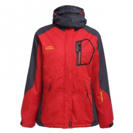 image of WOMEN WATER RESISTANT WINDPROOF BREATHABLE SKIING SNOWBOARDING JACKET (RED) L